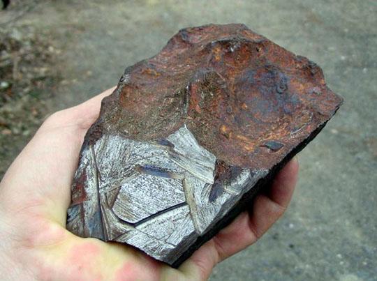 A kaposfüredi meteorit 2009 januárjában.