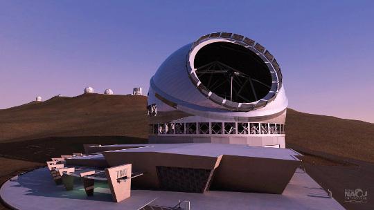 A Thirty Meter Telescope, ami a Manua Kea új ura lehet a 2020-as években. Forrás: NAOJ/4D2U Project