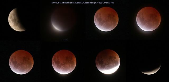 Balogh Gábor felvételsorozata az április 4-i teljes holdfogytakozásról.
