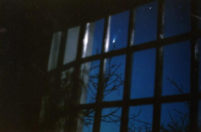 A Hale-Bopp-üstökös 1997. március 1-jén, Nyerges Gyula felvételén.