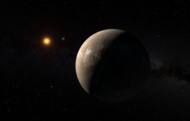 Fantáziarajz a Proxima Centauriról és a Proxima b-ről. (Forrás: ESO/M. Kornmesser)
