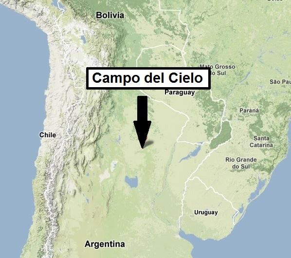 A Campo delé Cielo meteoritmező.
